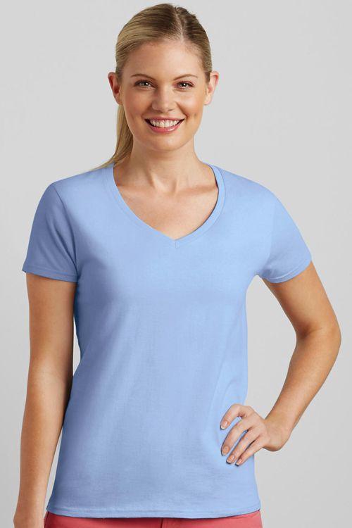 Tricou de damă V-Decolteu Premium Cotton Gildan | Logofashion