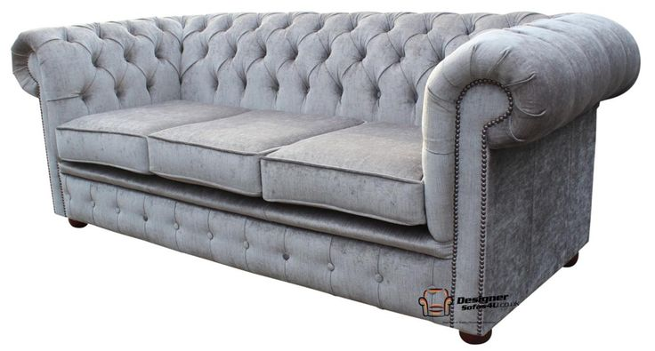 3 Seater Sofa Chesterfield Perla Illusions Velvet Grey Fabric Sofa 3 Seater Sofa Chesterfield Perla Illusions Velvet Grey Fabric Sofa :The Chesterfield Classic 3 Seater Sofa. The Chesterfield fabric 3 Seater Sofa with it's unique Low Back Style, Deep Bu