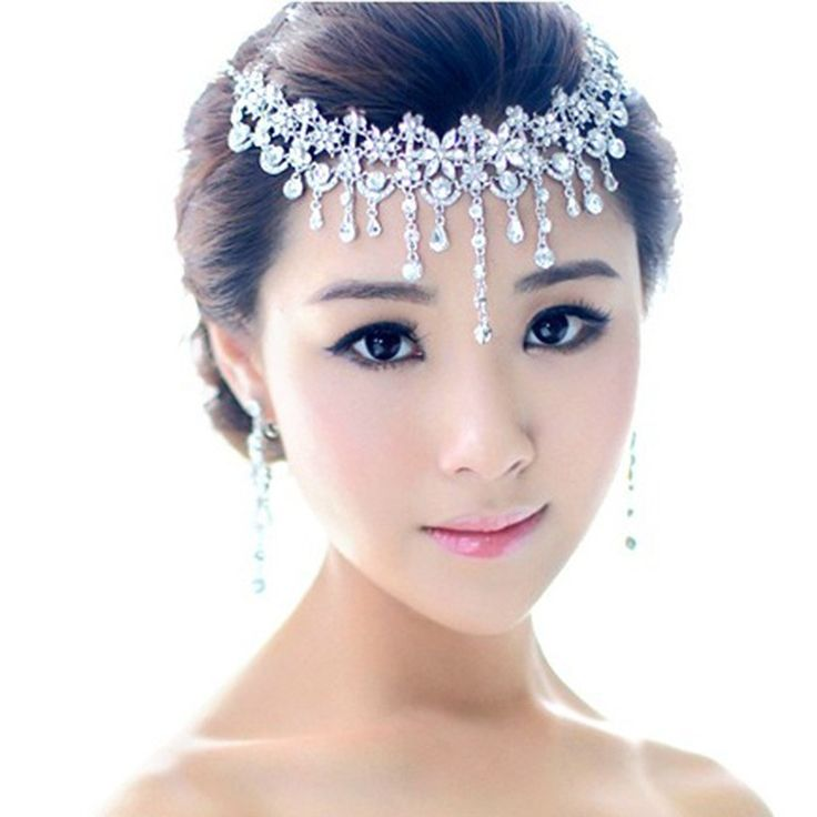 Jewelry Sets Necklace Tl013 Wholesale Teardrop Czech Crystal Bridal Frontlet Hair Accessoies Wedding Jewelry Accessories