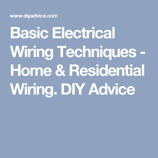 Best Basic Electrical Wiring Ideas Only On Pinterest Basic - House wiring job in australia