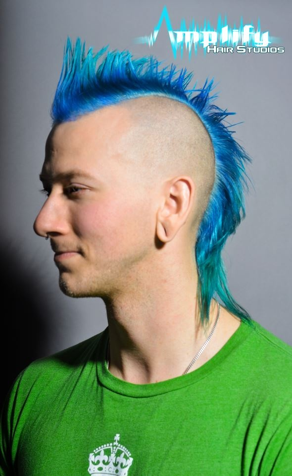 A Silly Photo Of A Conventional Mohawk Hairstyle. This Haircut Has More  Length At The
