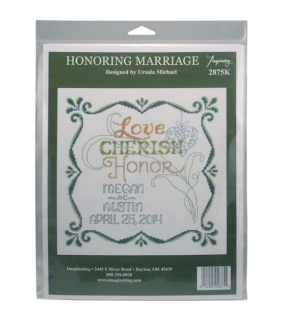 Imaginating Counted Cross Stitch Kit-Honoring Marriage Wedding Record