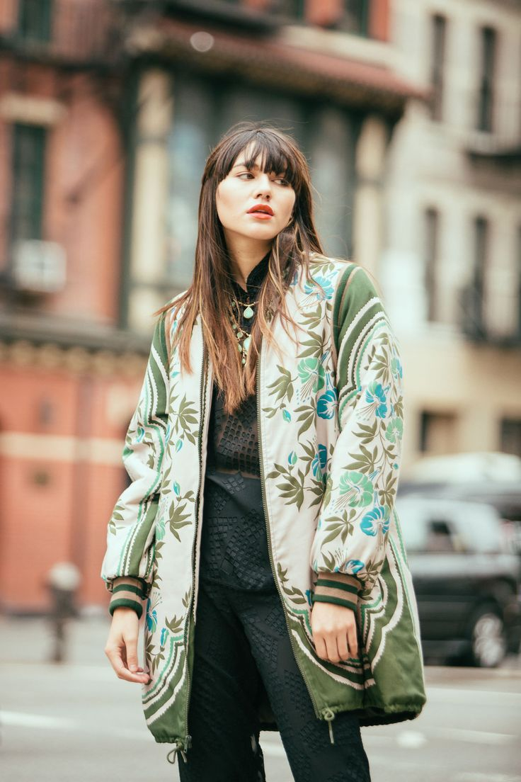 Anna Sui Floral Coat, $730 (modeled by Natalie Off Duty)