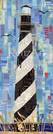 hatteras lighthouse magazine collage
