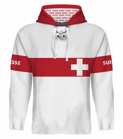 NEW 2015 Switzerland Hockey World Cup Hoodie NHL Josi Streit Niederreiter Weber