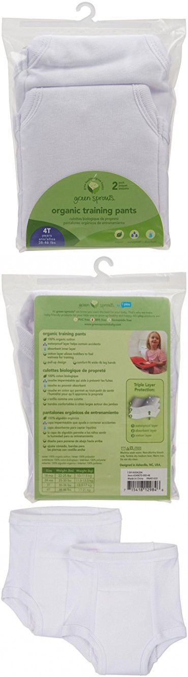 Green sprouts Organic Training Underwear, White, 4T, 2 Count