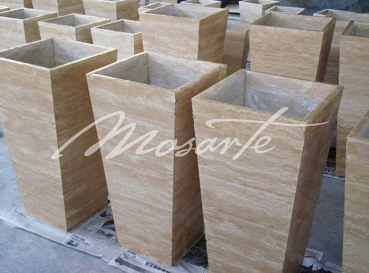 The natural beauty of our Travertine taper pots is subtle, lending itself to a wide variety of decor palettes.