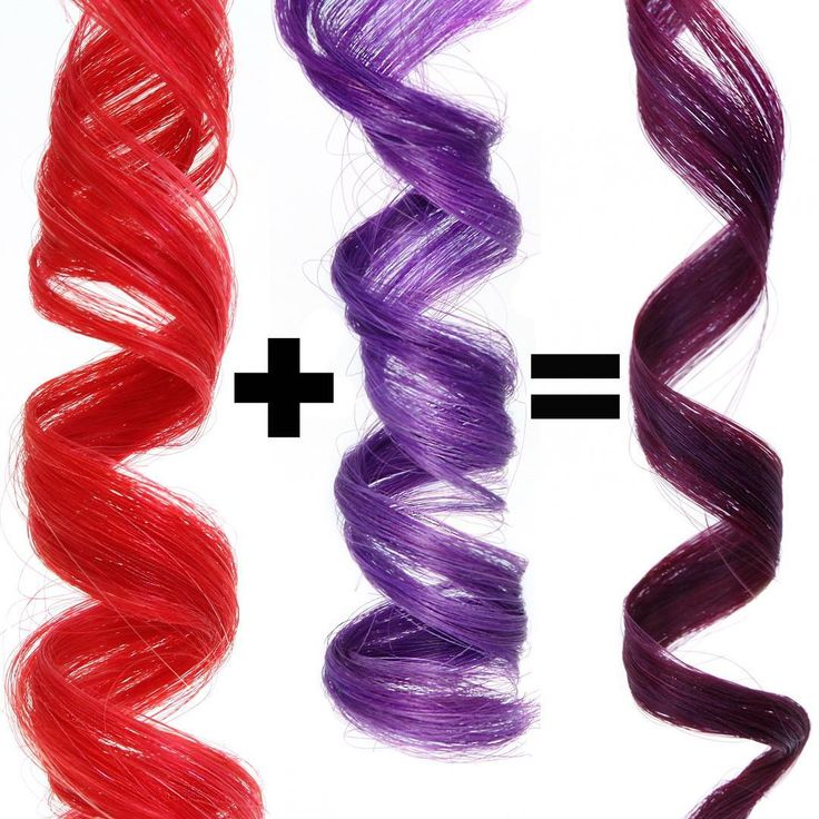 How gorgeous is this deep wine shade??  . Left: Extreme Red Daily Conditioner . Middle: Extreme Purple Daily Conditioner . Right: Extreme Purple Daily Conditioner + Extreme Red Daily Conditioner . You can mix oVertone conditioners together or alternate them every other wash for a custom color!