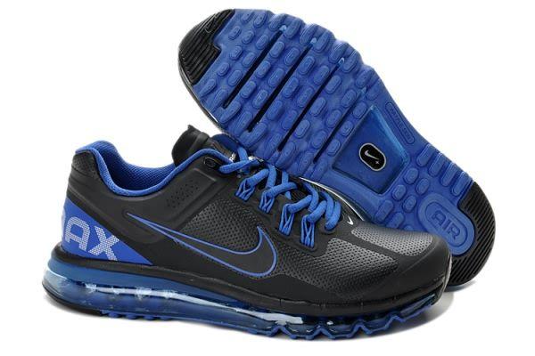 Nike Air Max 2013 Leather Men's shoes Black/Blue