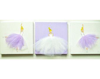 Nursery Art Kid's Room Ballerina Art Pink Art by ShenasiConcept