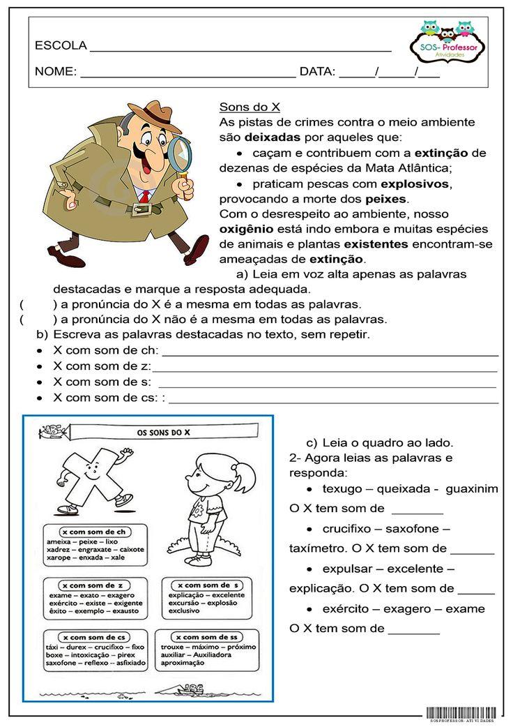 SOS PROFESSOR-ATIVIDADES: Sons do X