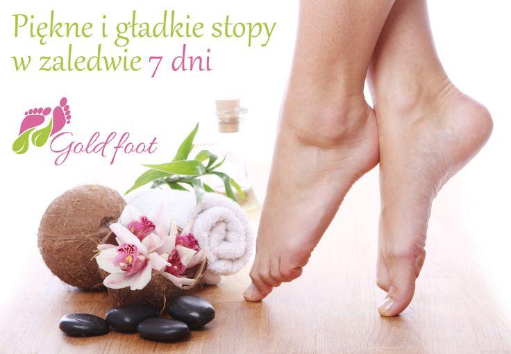 Tylko 7 dni wystarczy, aby Twoje stopy stały się piękne i gładkie :) A wszystko dzięki Gold foot :)