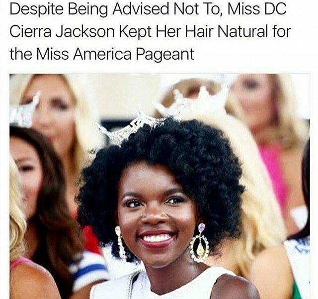 Why? should she change her hairstyle. Why? Because those who can't wear their hair that way is upset. Do the white contestants change their hairstyles when they win? Hell No!