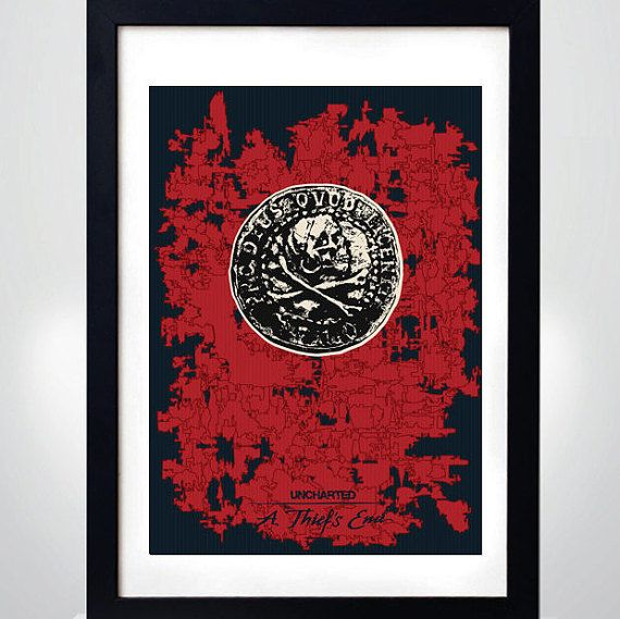 UNCHARTED: A THIEF'S END Wall Art Print Game Poster by MixPosters