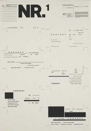 Wolfgang Weingart. Typographic Process, Nr 1. Organized Text Structures. 1974