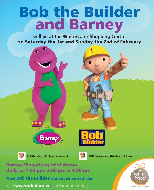 Barney and Bob the Builder @ Whitewater