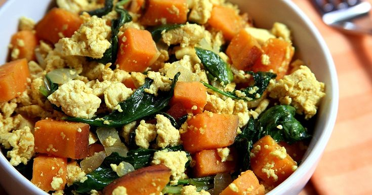 Protein-Packed Breakfast: Tofu Scramble With Kale and Sweet Potatoes ...