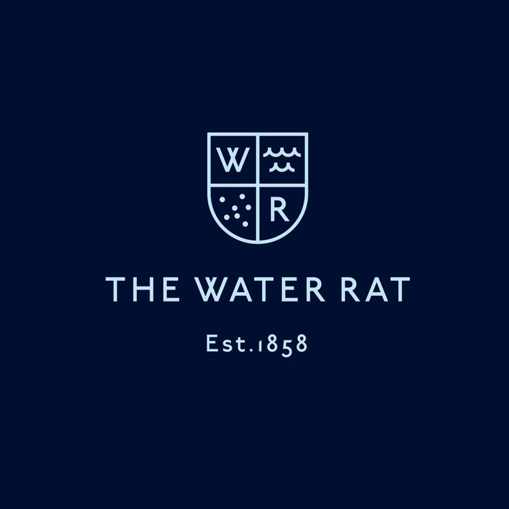 Brand identity for The Water Rat designed by Hofstede.