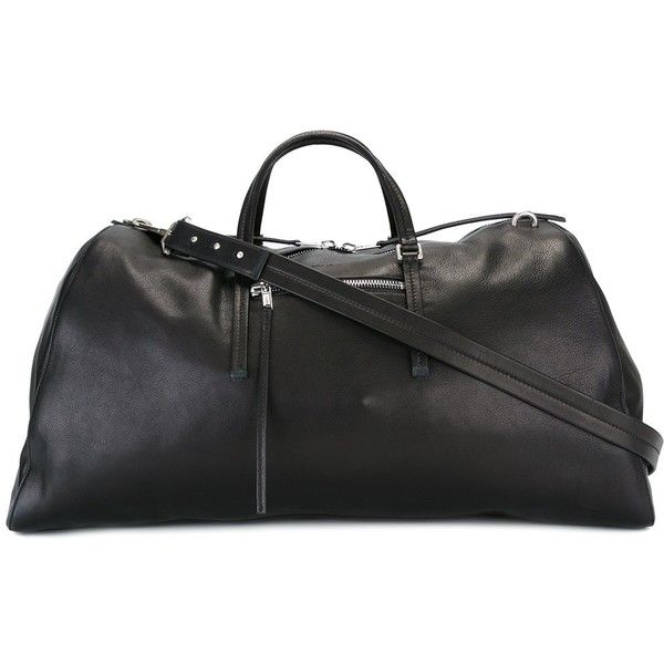 Rick Owens weekender holdall (€1.840) ❤ liked on Polyvore featuring bags, luggage and black