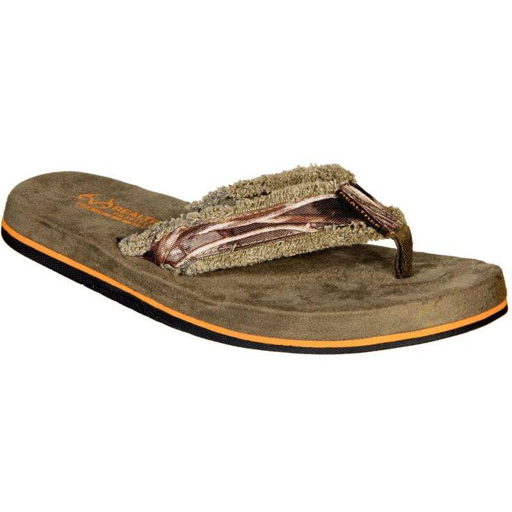 Realtree Outfitters Men's Jordan Flip Flops, Green