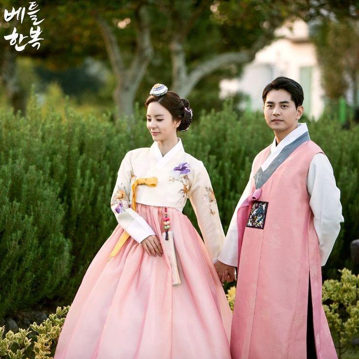 #pink 한복으로 멋지게 맞춰입은 신랑신부한복의 사랑스러움이 여기까지 전해지게만드네요:D