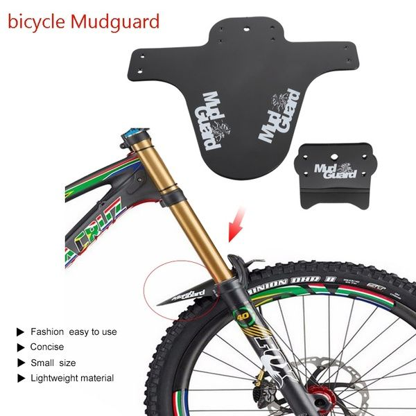 MTB Road Bike Front Fork Bicycle Fender Lightweight Mudguard Mud Guard Tire CO