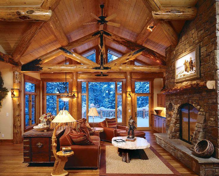 Die besten 25+ Log cabin builders Ideen auf Pinterest Blockhaus - wohnzimmer ideen rustikal
