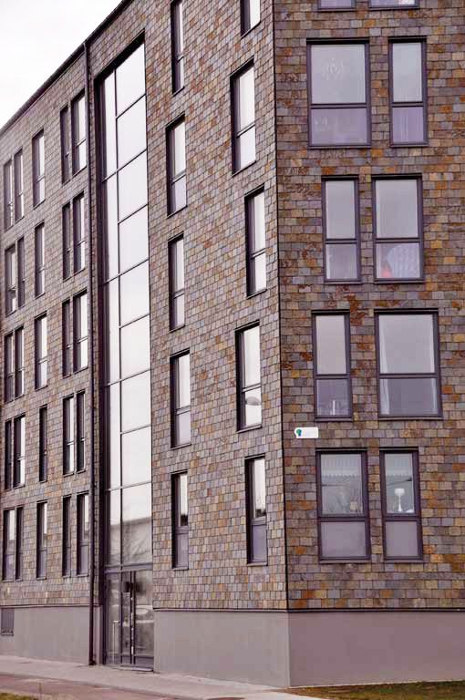 Fasadrenovering Samaca Multicolor - Nordskiffer