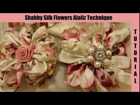Silk Flower, no sew, Easy, shabby chic tutorial, melting method, by Crafty Devotion, hairpin - YouTube
