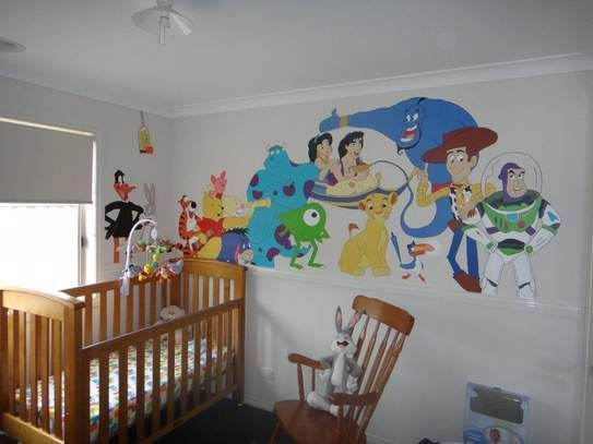 Disney Baby Boy Themes Hand Painted Nursery Inspiration For Kids Bedroom Decor At Pinterest And