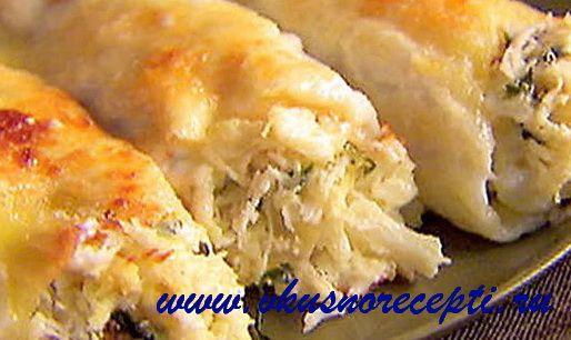 Каннеллони с мясом и сыром. Вкусные рецепты