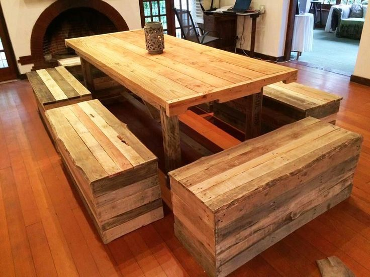 Pallet Dining Furniture - 20 Inexpensive Pallet Projects You Can Do | 99 Pallets
