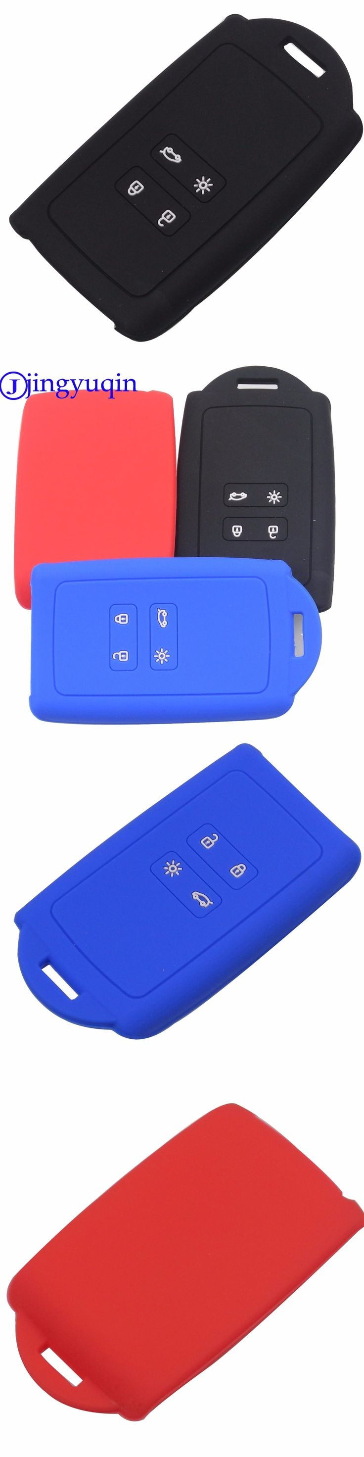 jingyuqin Silicone Car Key Case Key Protection Cover For Renault Koleos Kadjar 2016-2017 Remote Holder Protector Accessories