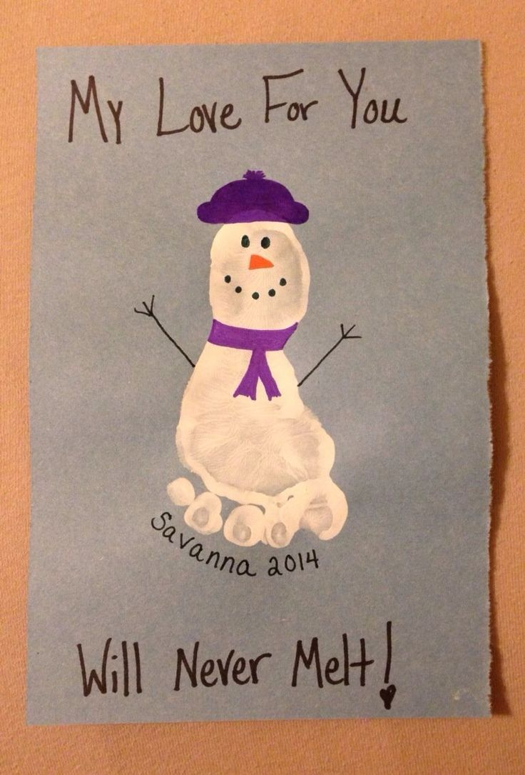 Snowman Footprint Art Project For Kids My Love Will Never Melt