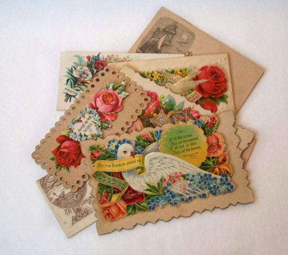 Vintage Lot of 8 Original Victorian Calling by MargsMostlyVintage