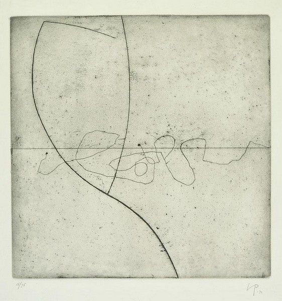 Victor Pasmore (Etching - Untitled)