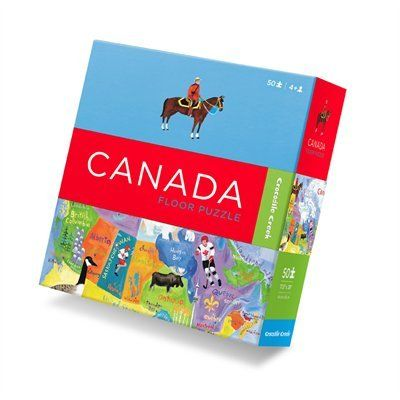 Map of Canada Floor Puzzle: teach your kids about the Canadian landscape as they learn the geography of this beautiful country piece by piece. #TheWorldNeedsMoreCanada