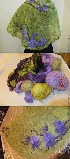 Шаль в технике Crazy-wool. МК Филатовой Ольги.