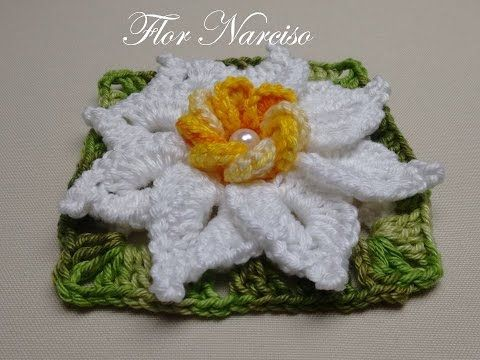 Flor Narciso - Por Wilma Crochê - YouTube