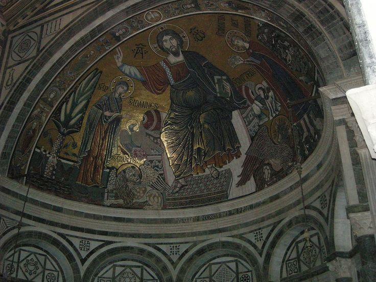 Sm al monte, interno, mosaico del catino absidale - Category:San Miniato al Monte (Florence) - Interior - Wikimedia Commons
