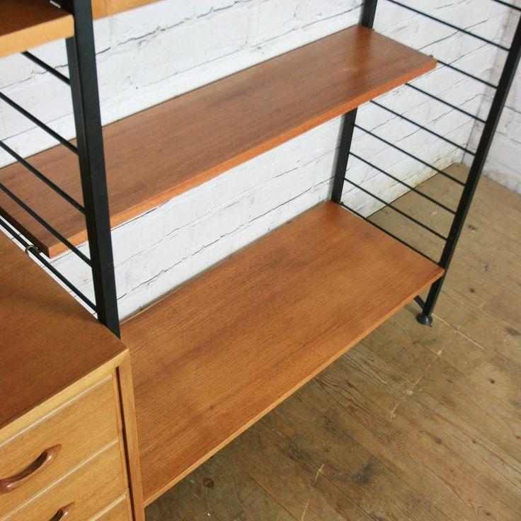 Vintage Ladderax Modular Shelving Unit