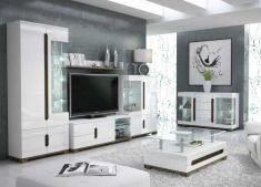 obývací pokoj Lotos bílá MDF / dub san remo
