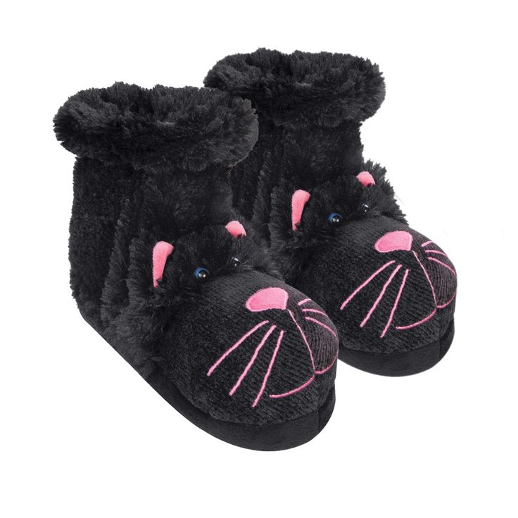 Black Cat Slipper Socks (With images) Cat slippers, Gift