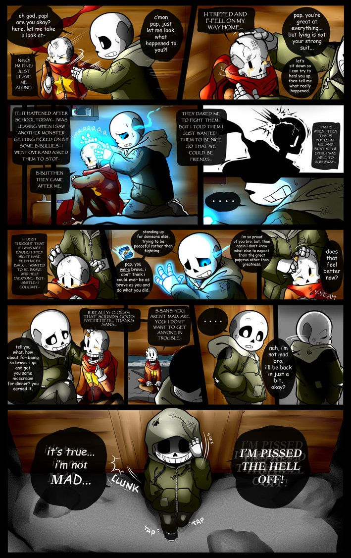 Listen to Memory from the Undertale Soundtrack for the full effect while reading this page... if you want... Umm... Happy Reminiscence: Undertale Fan Comic Pg. 15 everyone... I'm uh... just going t...