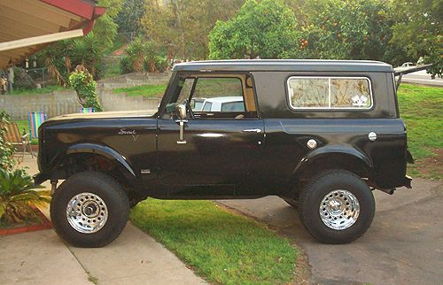 1967 International Scout.  take the roof of the back, install a machine gun turret, and this would be a great escort vehicle.