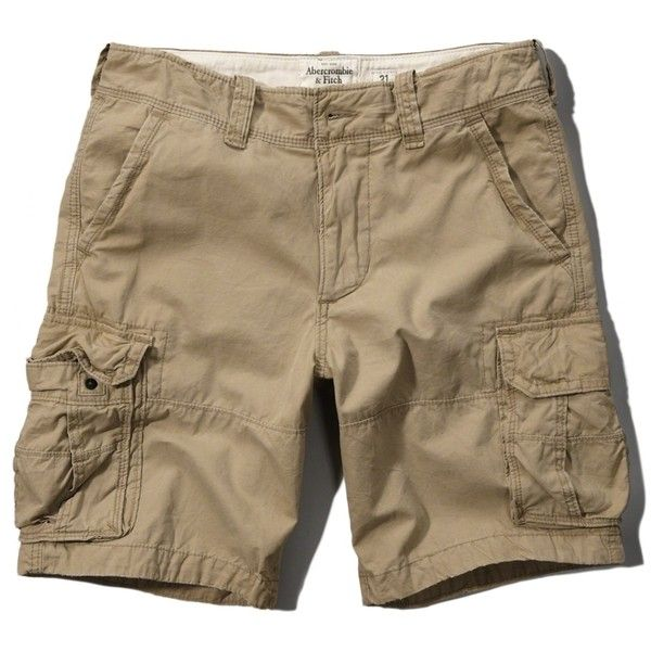 Abercrombie & Fitch Lightweight Zip Fly Cargo Shorts (2300 DZD) ❤ liked on Polyvore featuring men's fashion, men's clothing, men's shorts, khaki, mens vintage shorts, mens lightweight cargo shorts, mens cargo shorts, vintage mens clothing and mens khaki shorts