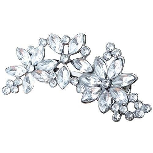 Rhinestone flower crystal hair clip  Shop the bling collection here: http://amzn.to/2lj9uVW