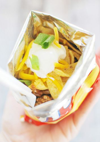 Walking Tacos - tacos made right in a Fritos bag! These are perfect for feeding a crowd!
