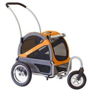 DoggyRide Mini Dog Stroller - Dutch Orange/Grey