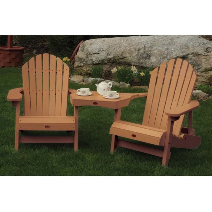 Adirondack Tete A Tete Connecting Table Outdoor Chairs